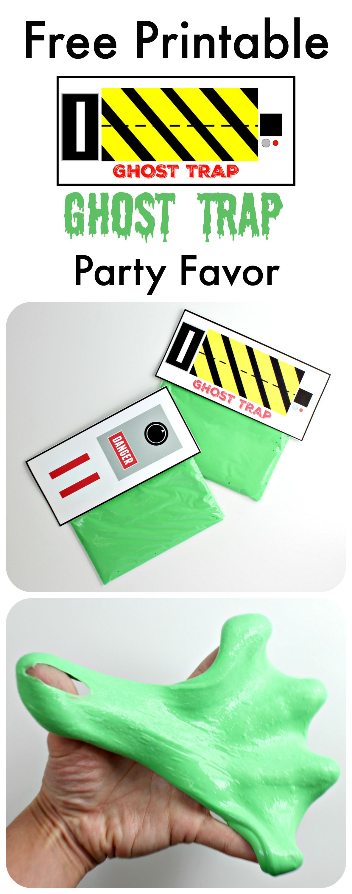 Free Printable Ghost Trap Party Favor Inspired By Slimer From Ghostbusters Mom Collaborative Ghostbusters Party Halloween Party Themes Party Printables Free