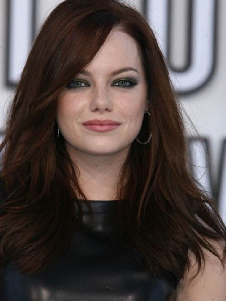 Emma Stone Dark Red Hair Color formula - Best Hair Color ...