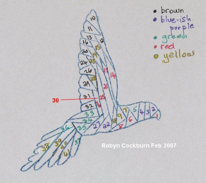 #irisfolding bird template  visit me at My Personal blog: http://stampingwithbibiana.blogspot.com/