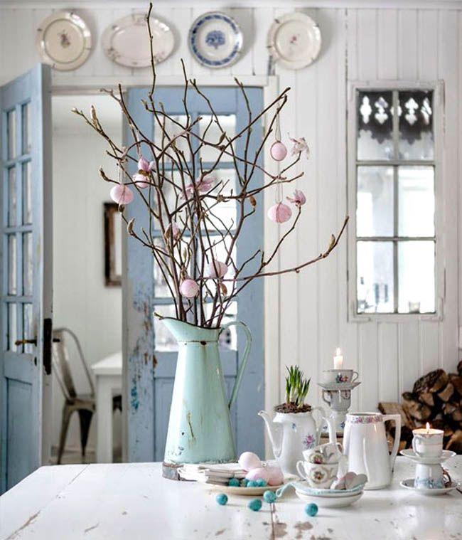 Ostereier in wunderschön gedeckten Farben Dekor, Vibeke