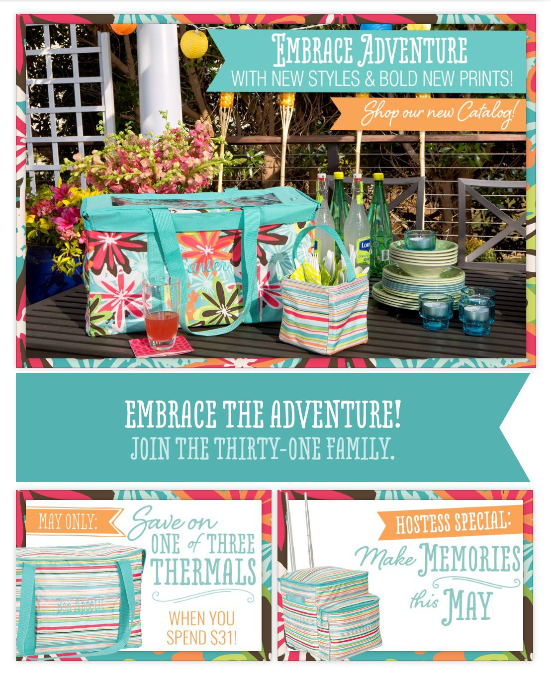 Our new summer catalog is live!! :) take a peek at www.mythirtyone ...