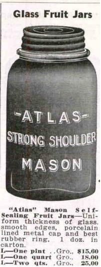 What is the date for an atlas strong shoulder mason canning jar 1