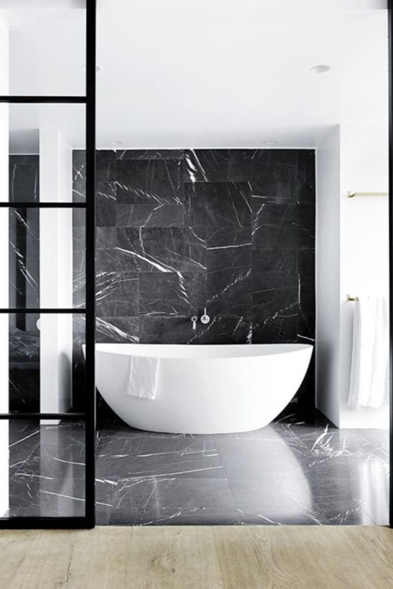 Contemporary Black And White Bathroom Ideas