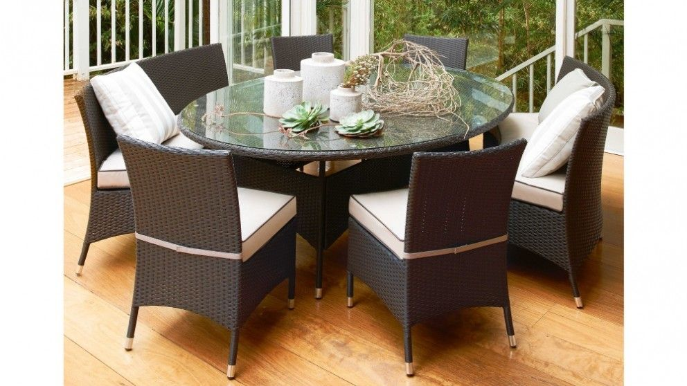 Suva 7 piece oval dining setting outdoor dining for Outdoor furniture harvey norman