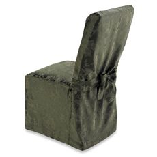 Dining Room Chair Slip Covers Bed Bath And Beyond Flower Back For Weddings Holiday Joy Cover Olive