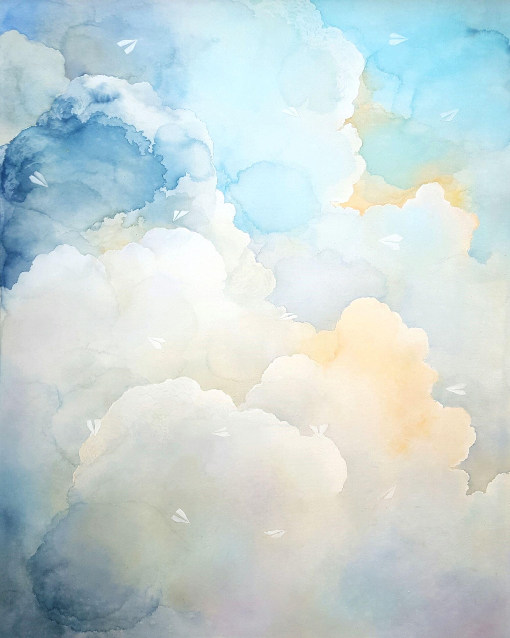 Art Watercolor Blue Watercolour Wash Texture Inspiration