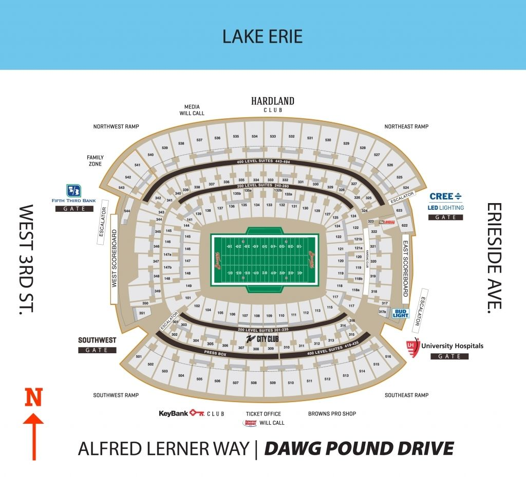 browns stadium Seating charts, Chart, First energy stadium