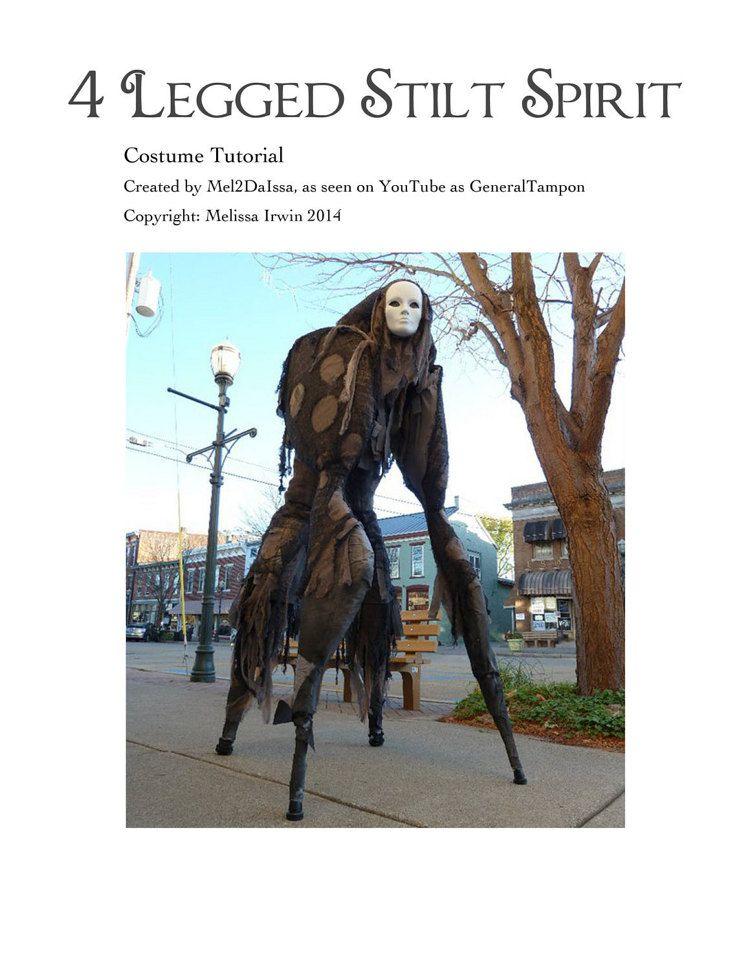 4 Legged Stilt Spirit Halloween Costume Tutorial -