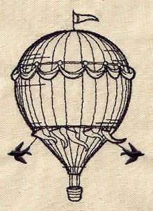 distressed hot air balloon drawing  Google Search  Tattoo Maybes