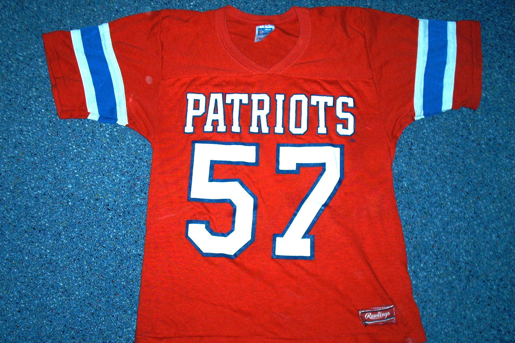 detailed look a3f88 559df Vintage 80's New England Patriots linebacker Steve Nelson ...