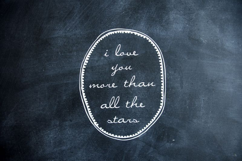 Shanna Murray dotted garland & all the stars cursive wall decal for our nursery door in silver.