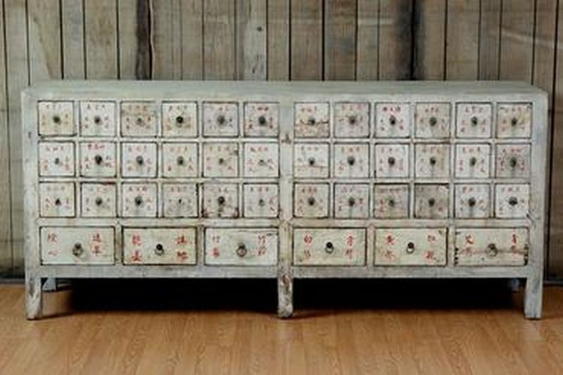 Antique Chinese Medicine Cabinet At 1stdibs