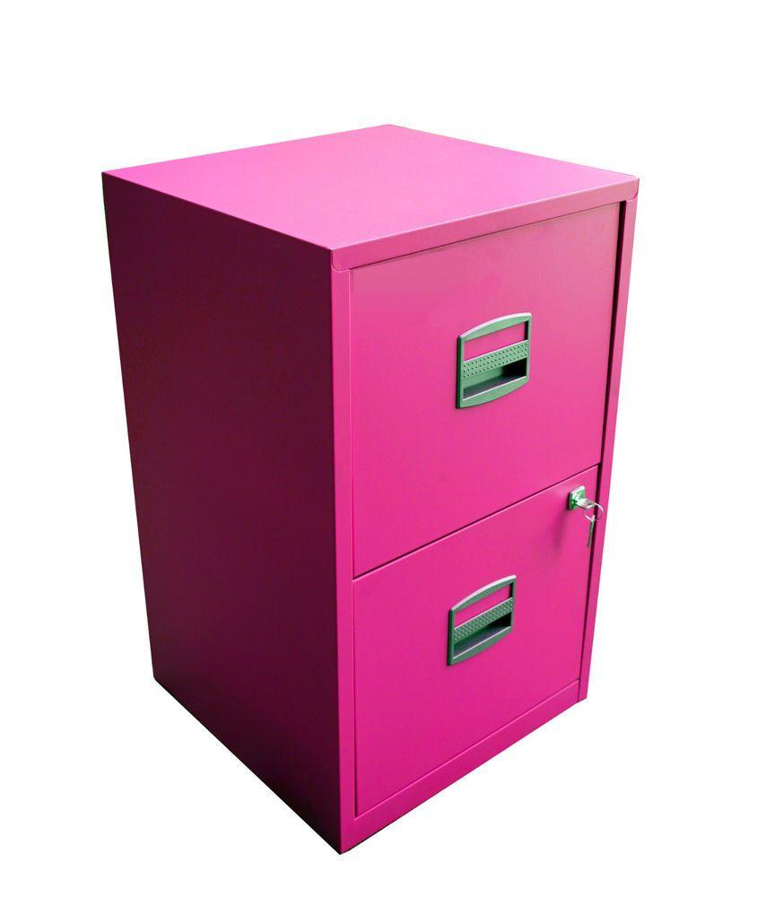 2 Drawer Bisley A4 Bright Pink Metal Filing Cabinet With Key Grade B B2dpi B Filing Cabinet Metal Filing Cabinet Cabinet