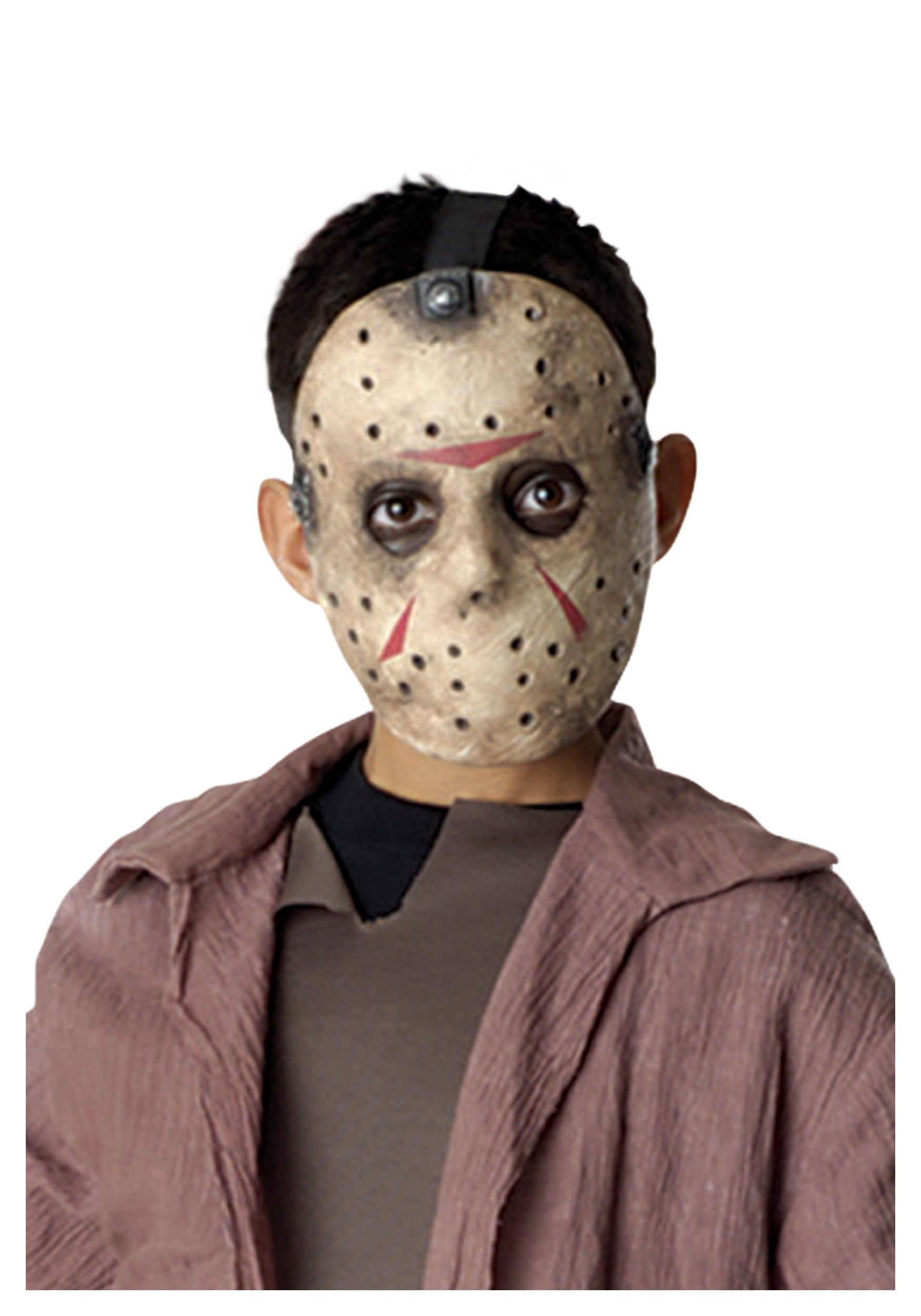 When your child goes in this Jason Voorhees mask, he'll be ready ...