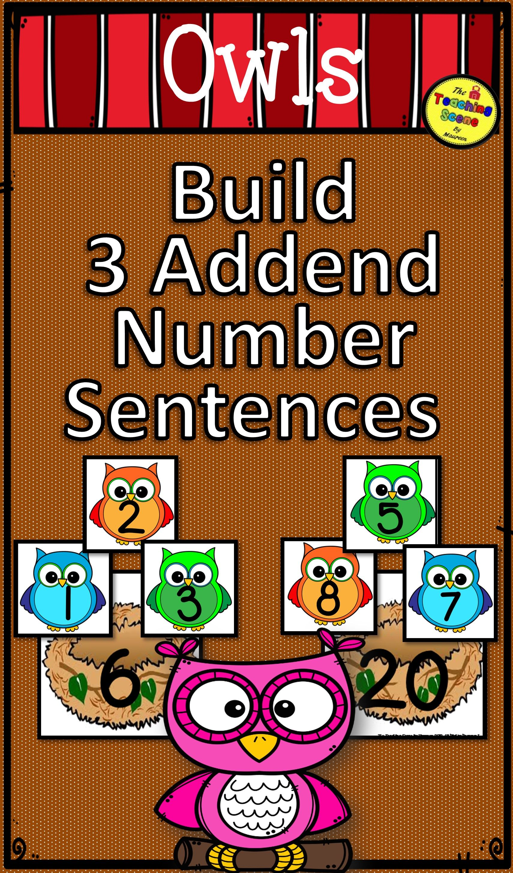 Owls Build 3 Addend Addition Amp Subtraction Number
