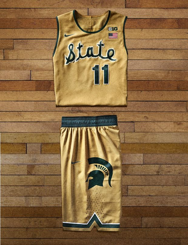 cheap for discount 50a91 0562c Michigan State Spartans basketball uniforms | My Style ...
