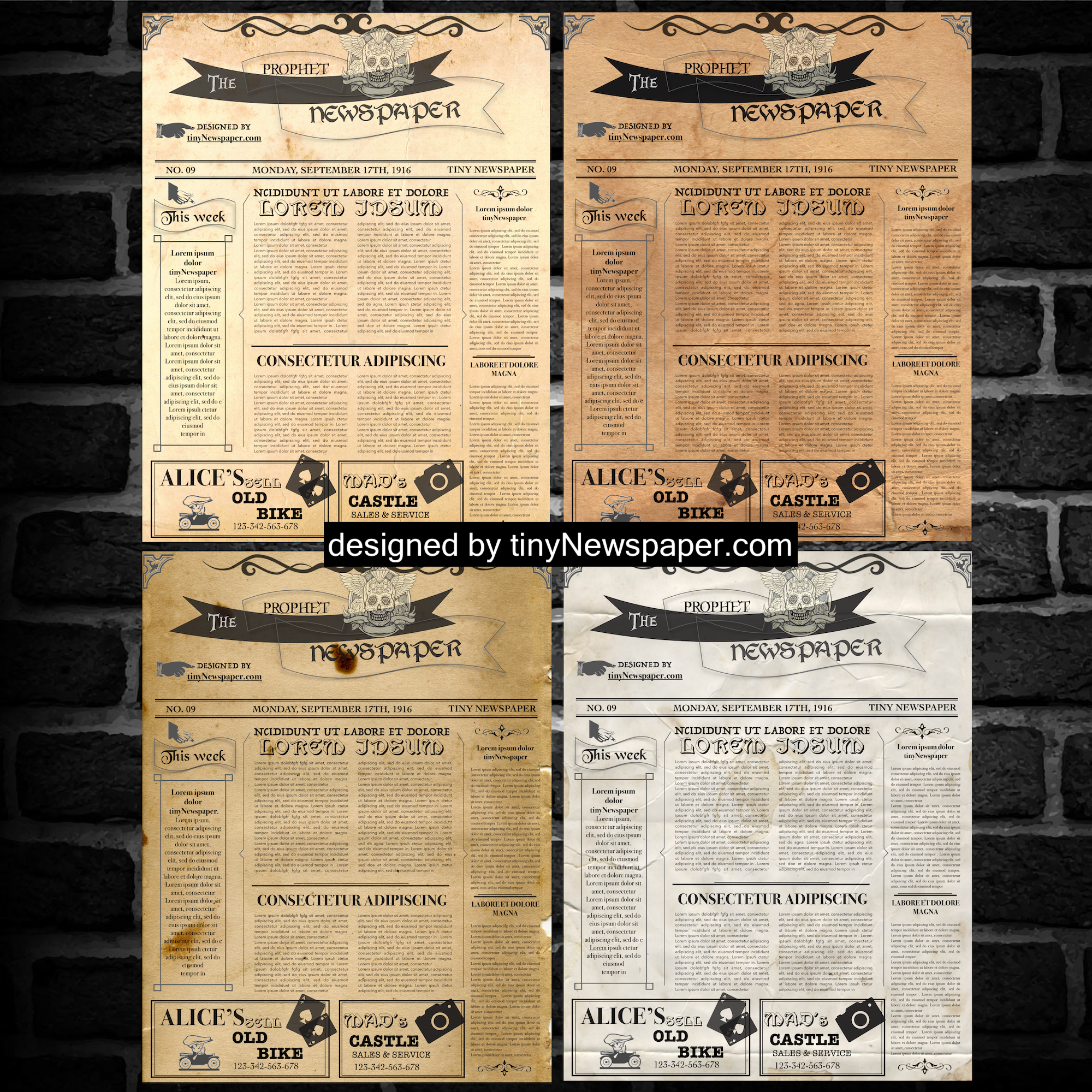 Vintage Newspaper Template Google Docs Mockup | Newspaper
