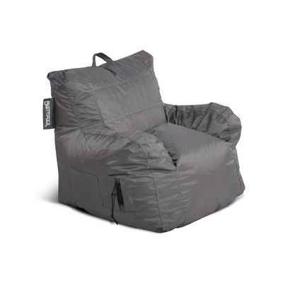 Big Maxx Bean Bag Chair Color Grey Size Mega