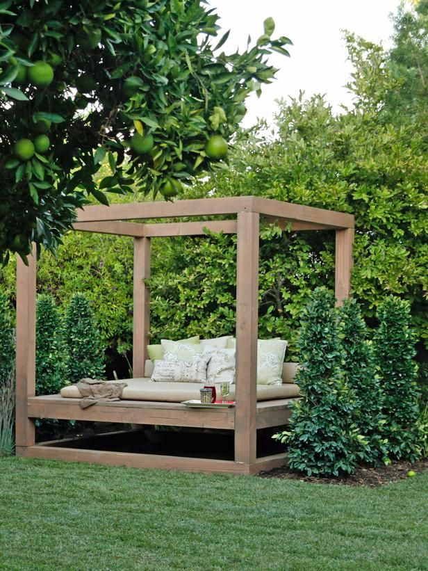 interesting outdoor beds with canopy. Canopy Bed in the Trees This canopy style daybed is situated on edge of  this tree filled yard so it s perfect place to relax and still take Outdoor Lounging Spaces Daybeds Hammocks Canopies More
