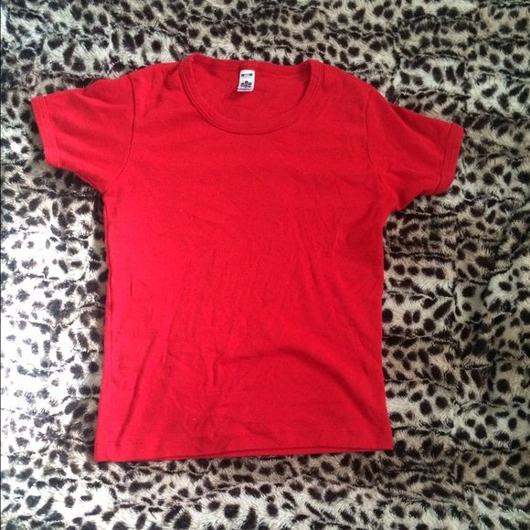 5303d0c2 ClassicGirl from American apparel red t shirt Plain red t shirt ...