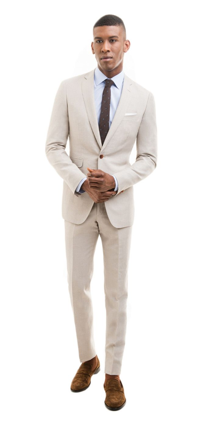 Khaki Linen Blend Custom Suit | Khakis, Linens and Linen suit