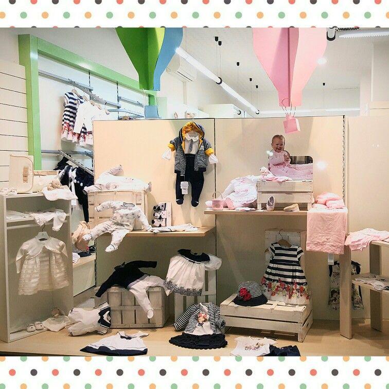 Collezione Primavera/Estate 2016 #abbigliamento #neonati #bambini #vetrine  #mongolfiere #