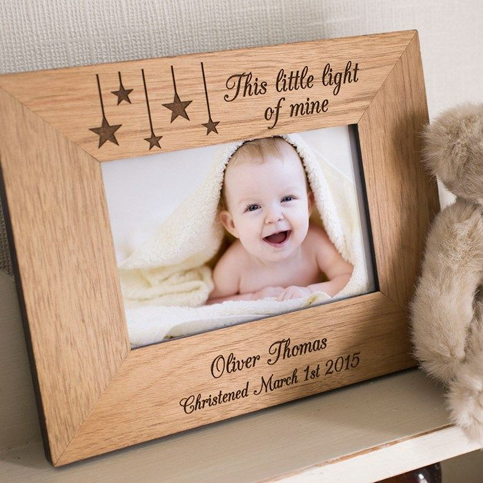 engraved wooden picture frame little light of mine gettingpersonalcouk