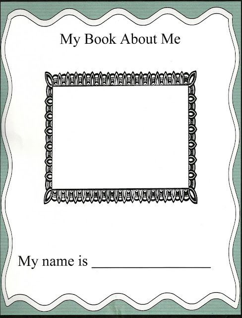 My Book About Me - I'm Special 10 Page Booklet for Self Esteem Building (younger kids)