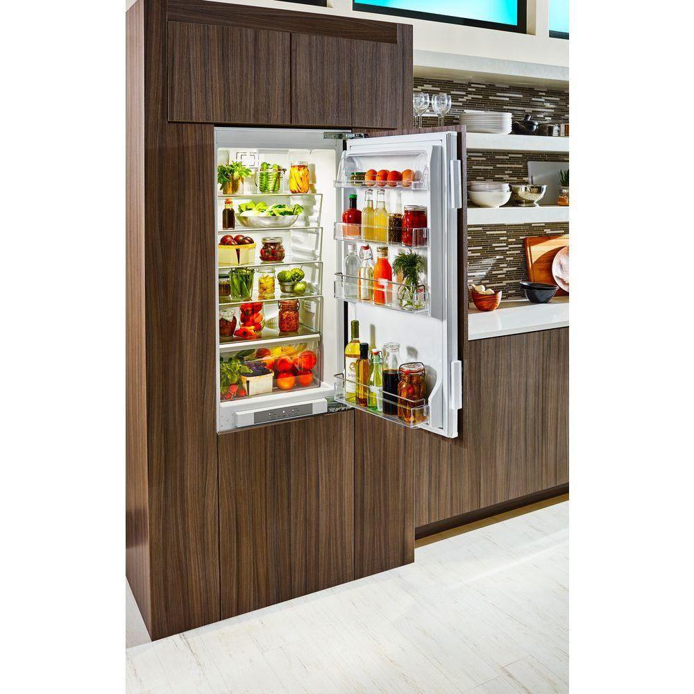 Kitchenaid 10 Cu Ft Built In Bottom Freezer Refrigerator In Panel Ready Kbbx104epa The Home Depot Refrigerator Panels Kitchen Aid Bottom Freezer
