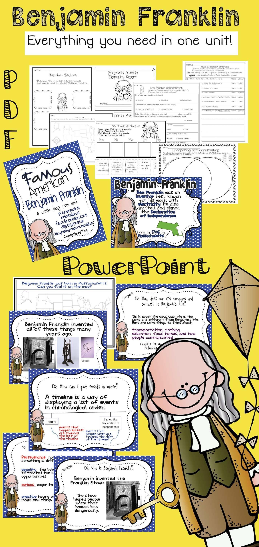Benjamin Franklin Famous American Powerpoint
