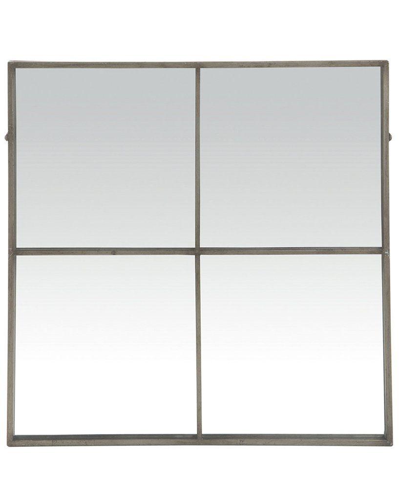 Silver Window Pane Wall Mirror H 80cm Square 4 Pane Metal Large Silver Framed Mirror Window Frame Mirror Framed Mirror Wall