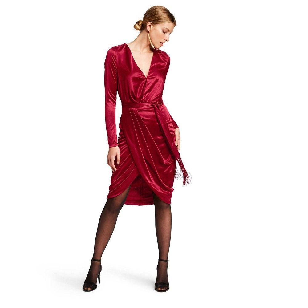 Women S Long Sleeve Deep V Neck Wrap Dress Altuzarra For Target Red M Women S Size Medium Red Wrap Dress Women Long Sleeve Wrap Dress [ 1000 x 1000 Pixel ]