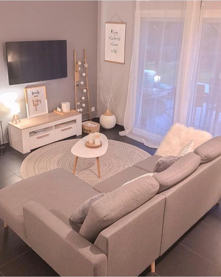Canape D Angle Gris Scandi Bobochic En 2020 Idee Deco Salon Cocooning Decoration Salon Cocooning Deco Salon Cocooning