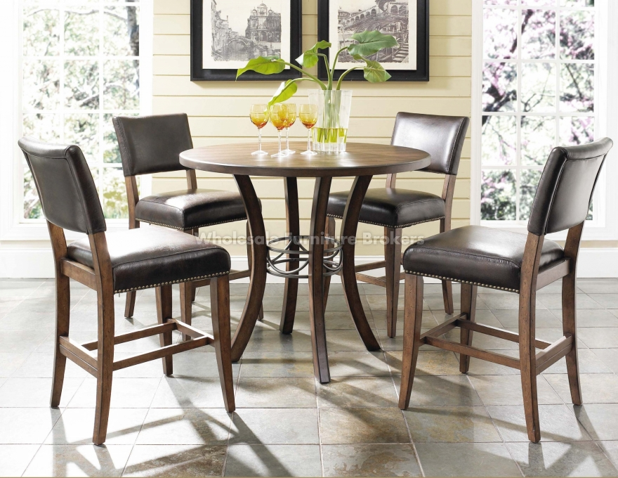 Cameron Round Counter Height Dining Set With Parsons Chairs Adorable High Dining Room Table Inspiration Design