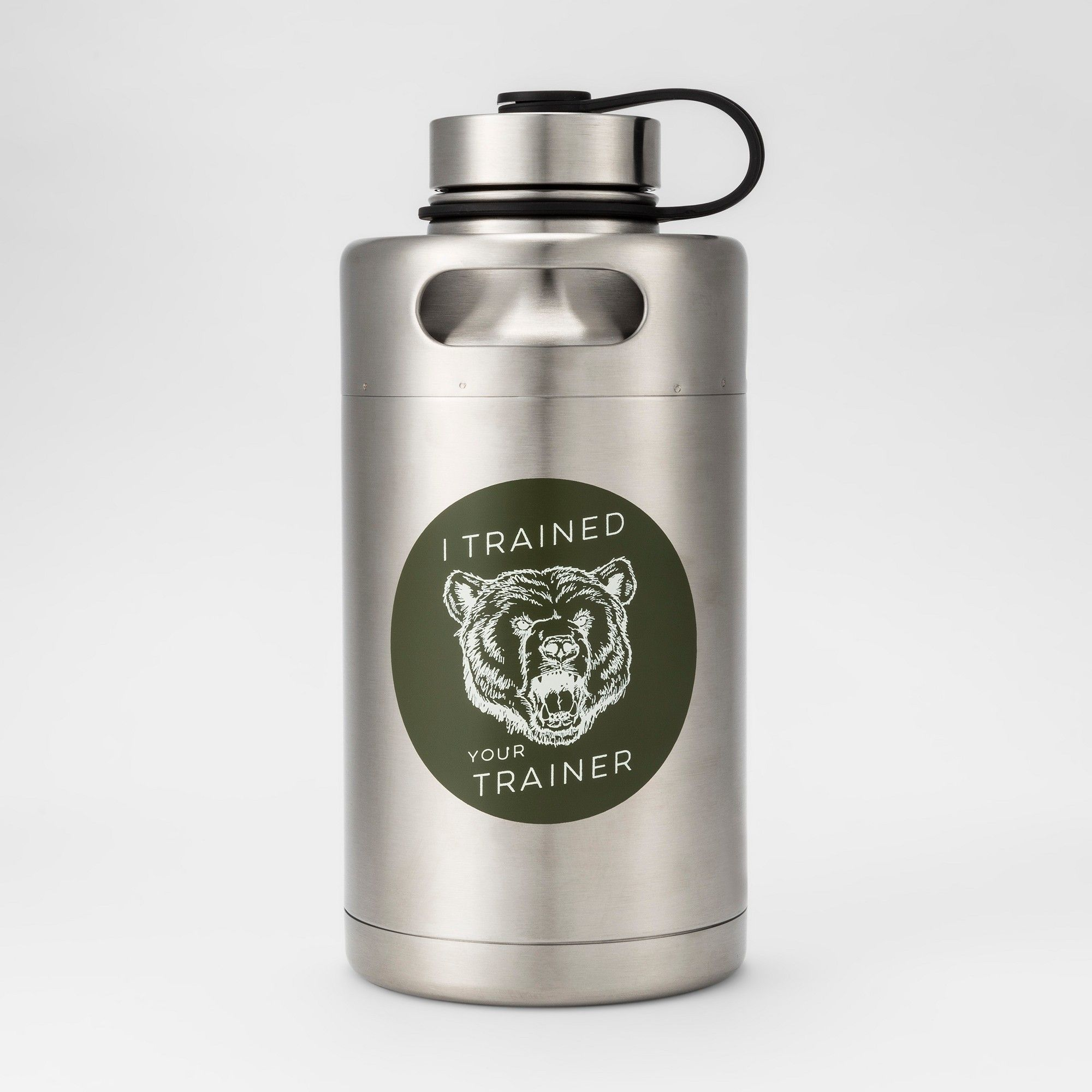 ebe7e968a6c Stainless Steel Vacuum Insulated Keg Growler Water Bottle 64oz Trained Your  Trainer - Room Essentials