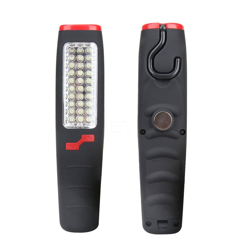 Hot Sale 37 Leds Flashlight Work Light Camping Outdoor Emergency Led Lamp Electric Torch With Magnet And Hook Asaf Work Lights Electronics Workshop Flashlight