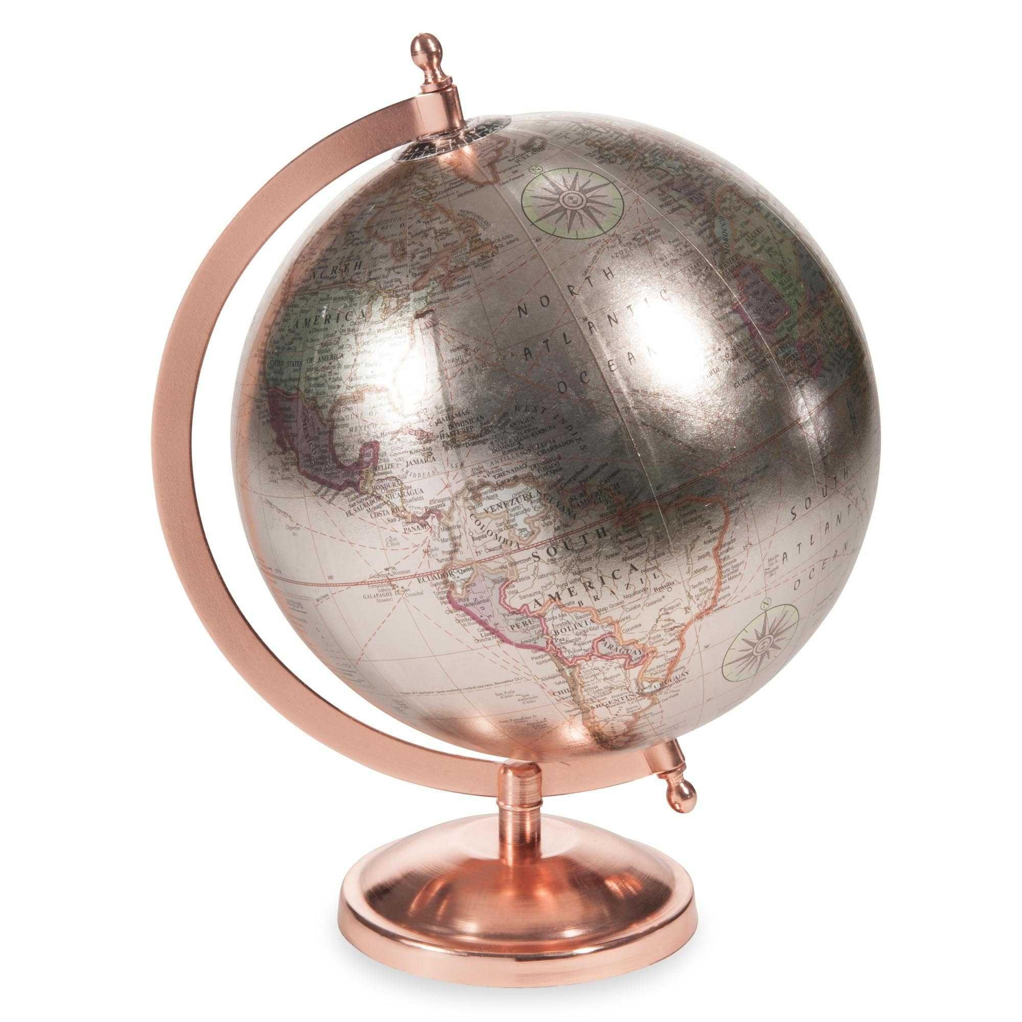 globe terrestre h 29 cm copper glace maisons du monde copper cuivre or rose pinterest. Black Bedroom Furniture Sets. Home Design Ideas