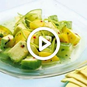 Cucumber Salad -- combine cucumber, avocado and mango with a salty-sweet dressing for a taste of the tropics. @EatingWellTropical Cucumber Salad -- combine cucumber, avocado and mango with a salty-sweet dressing for a taste of the tropics. @EatingWell