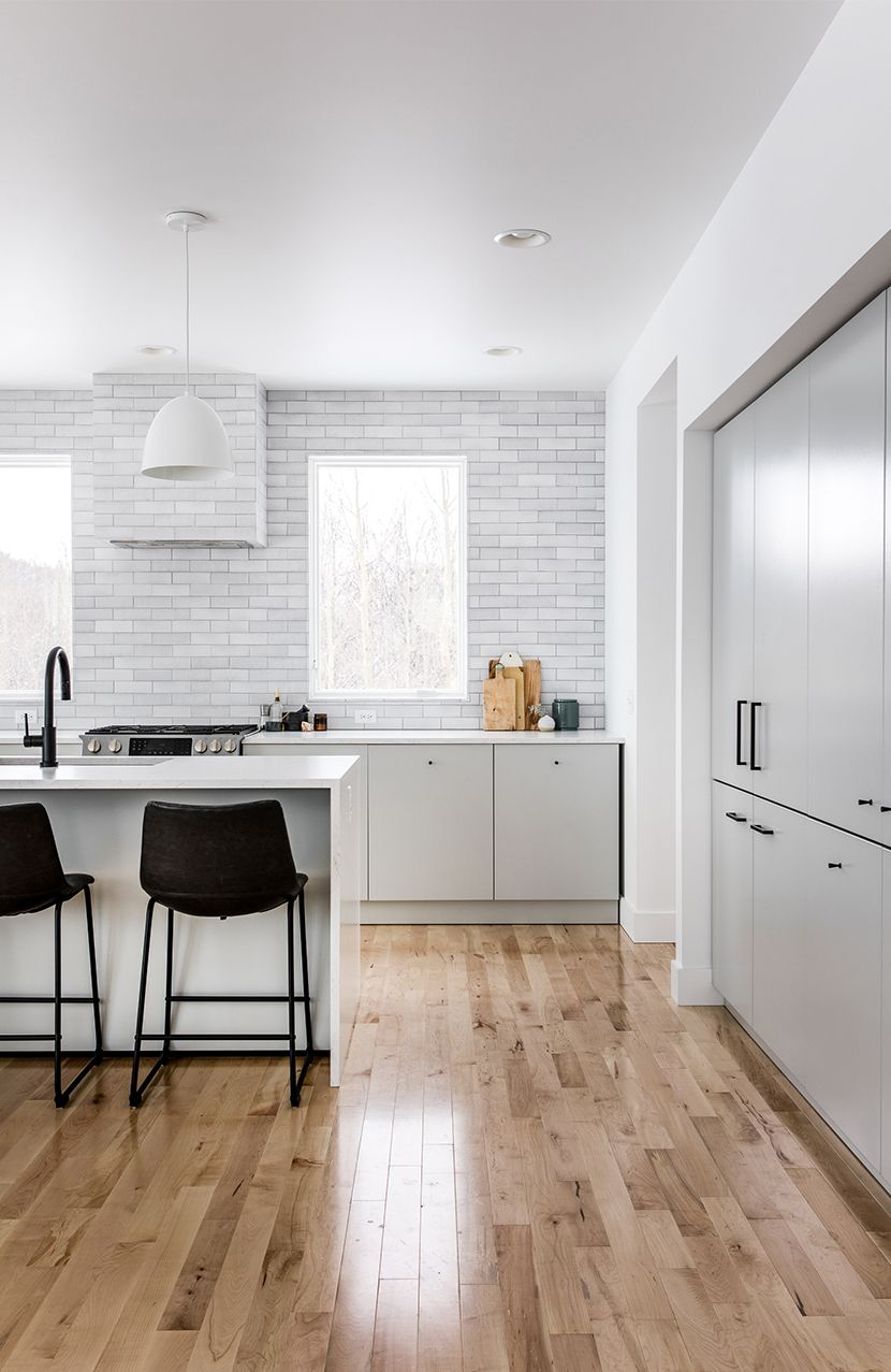 Building Home Our Kitchen Reveal With Fireclay Tile A Scandinavian Style Farmhouse In Northern Michigan The Fr Home Kitchens Home Decor Scandinavian Kitchen
