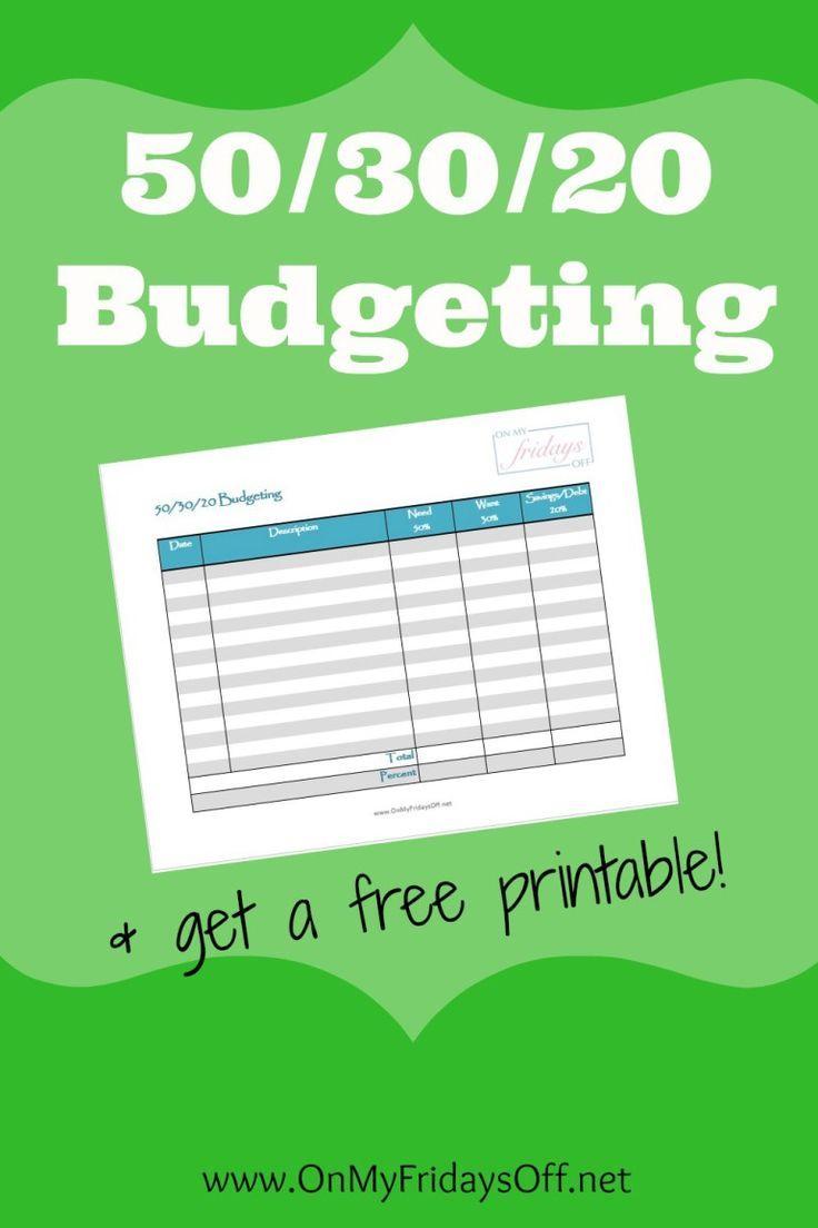 50/30/20 Budgeting
