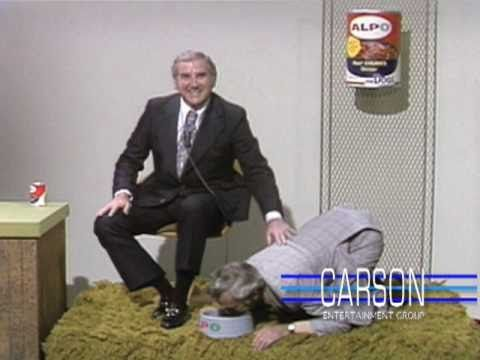 Johnny Carson Bloopers Johnny Helps With The Alpo Dog Food Ad On