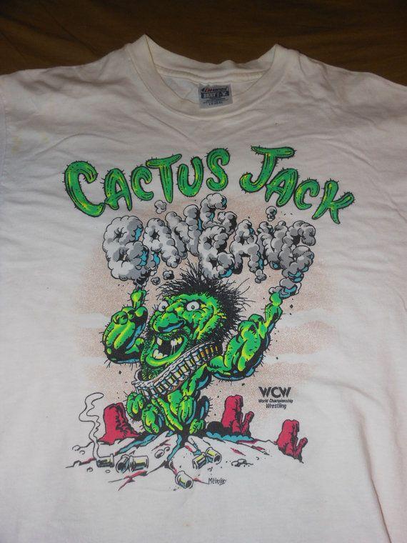 82985cc07 1990 Cactus Jack WCW t shirt - wrestling wrestler wwe wwf | Stuff I ...
