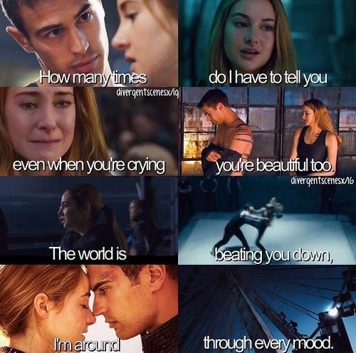 I am constantly saying this is FourTris' song! Like seriously, all of him loves all of her! I'm dying right now! *hears loud sobbing