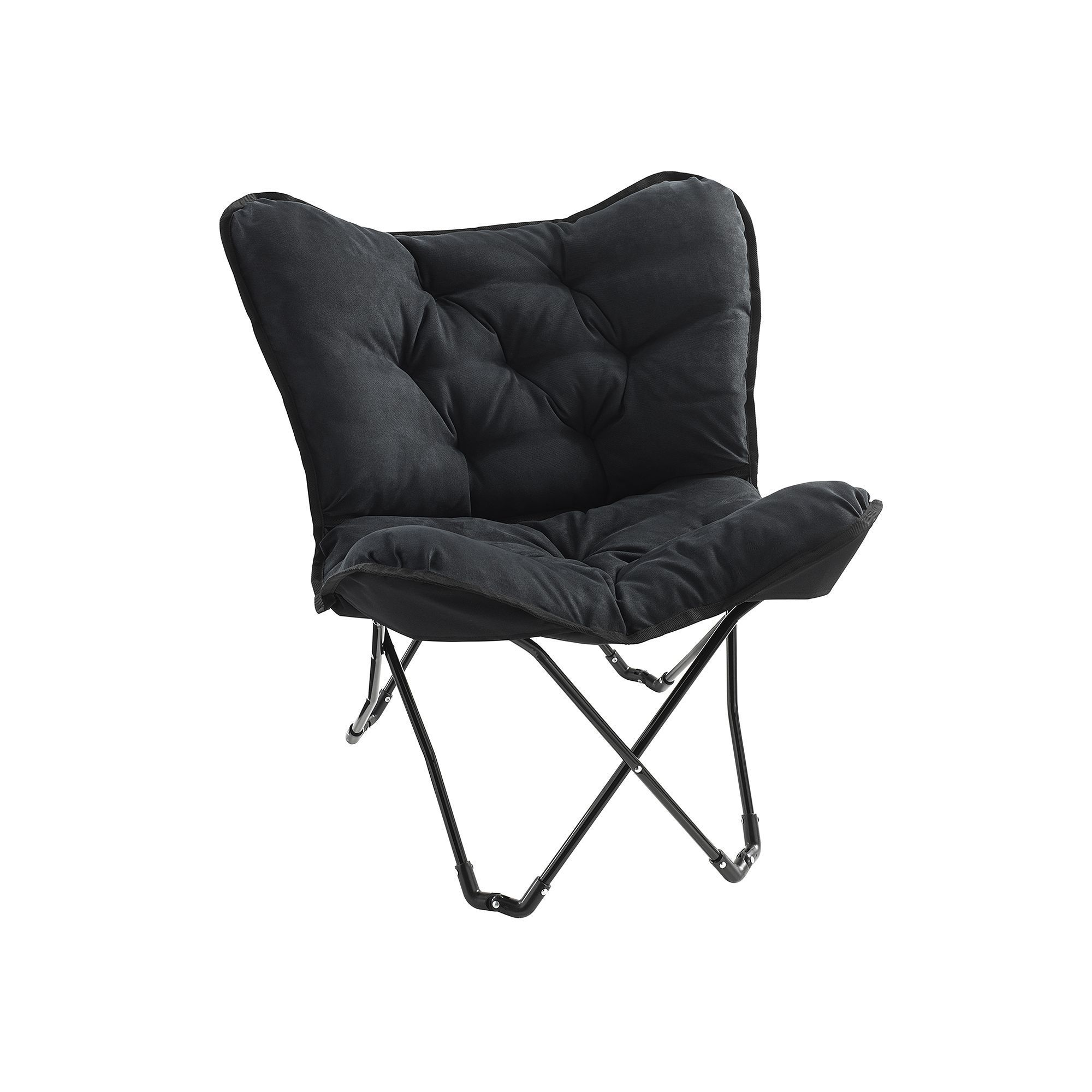 Butterfly chair black - Simple By Design Memory Foam Butterfly Chair Black