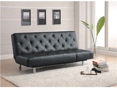 Shop for Coaster Sofa Bed, Black PU, 47, and other Living Room ...
