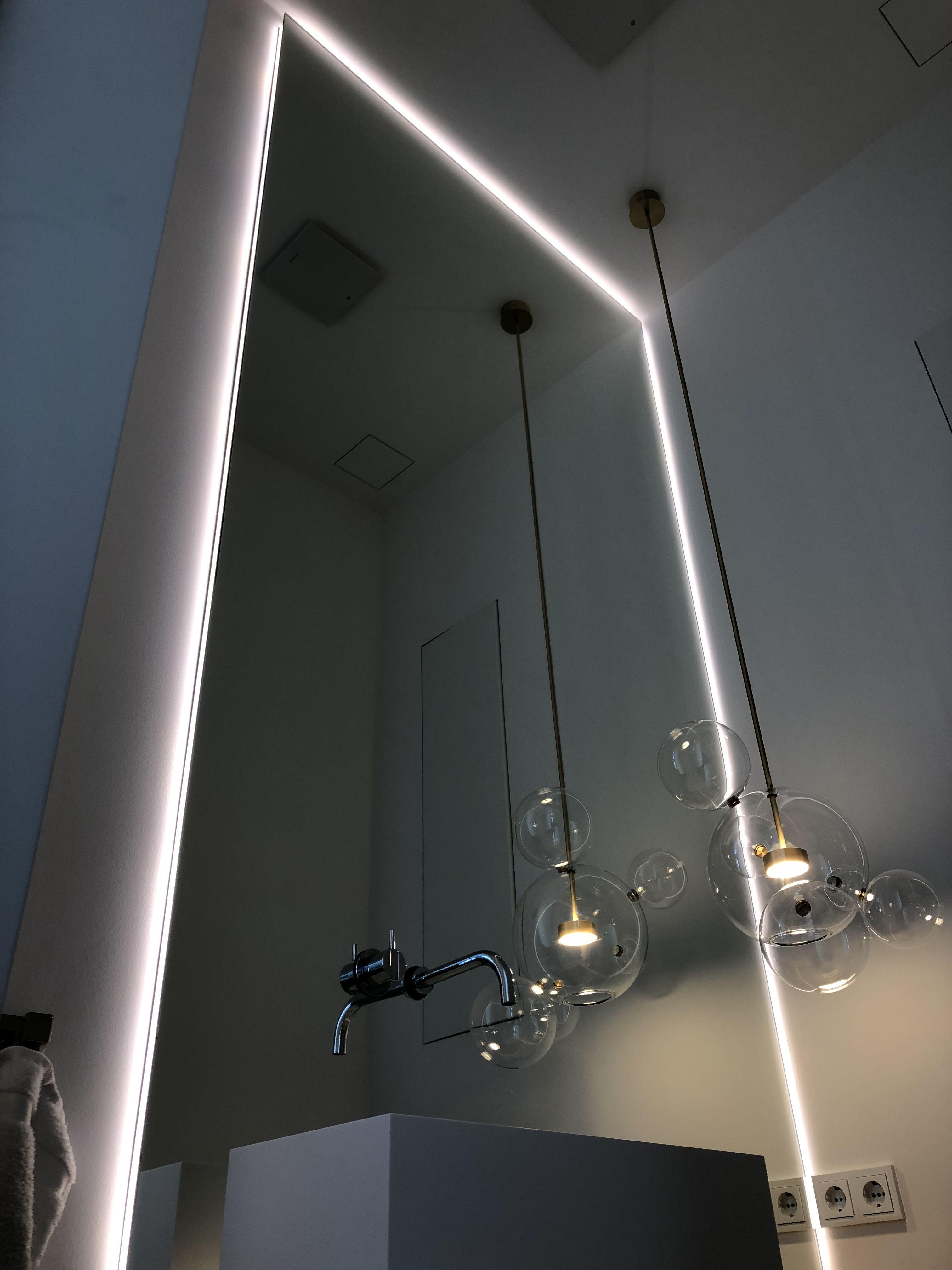 Lux Aqua 3d Effekt Led Beleuchtung Badezimmerspiegel Bad Spiegel Flurspiegel Wandspiegel 60x80cm Fl1243w Silber 60 Cm X 80 Cm X 7 Cm Amazon De Kuche Haushalt