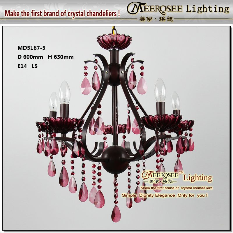 Free 2017 New Arrival Antique Wrought Iron Crystal Chandelier Lamp With 5 Arms Md5187