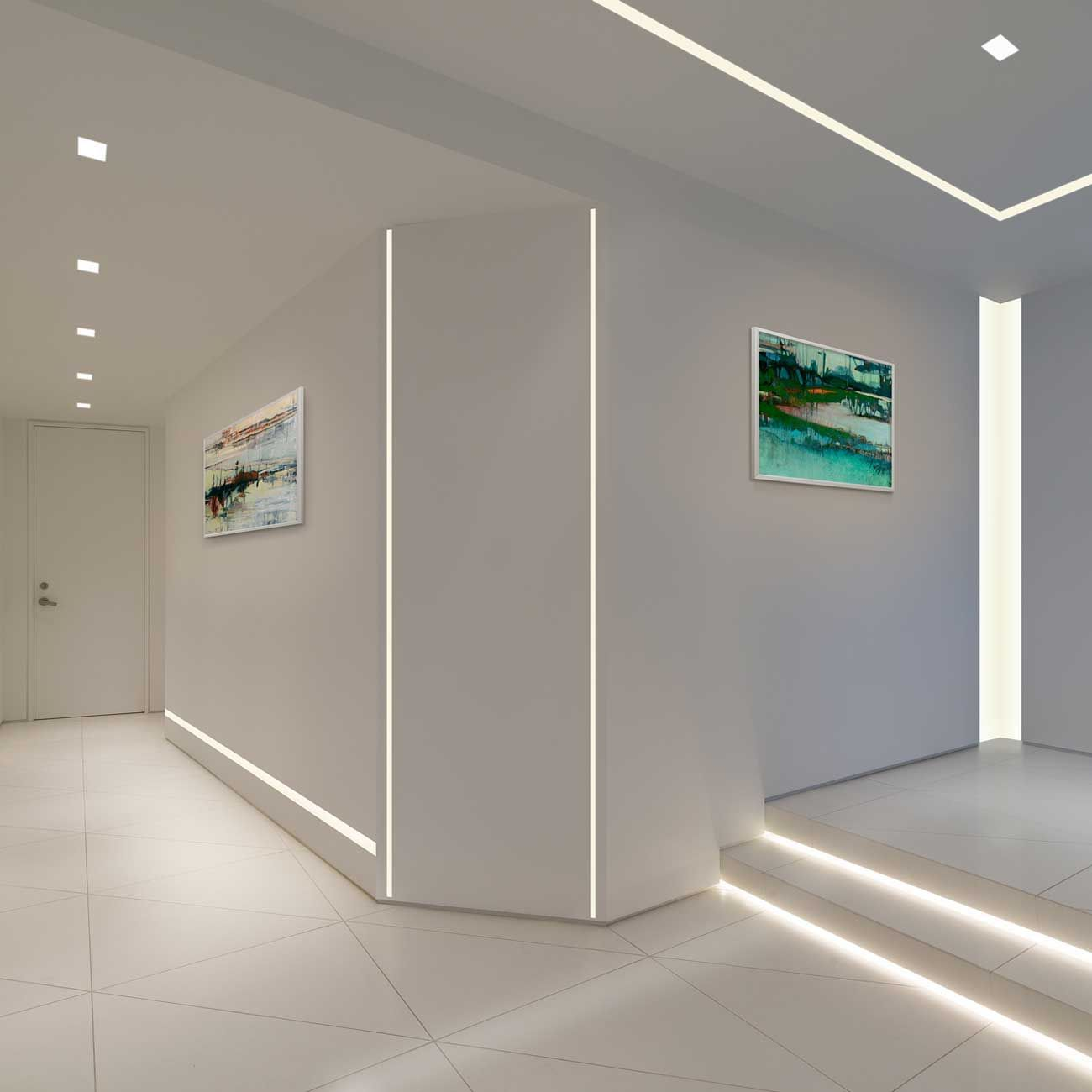 Led Spots Im Esszimmer Reveal Plaster In Led System 2 5w 24vdc By Pure Lighting Star