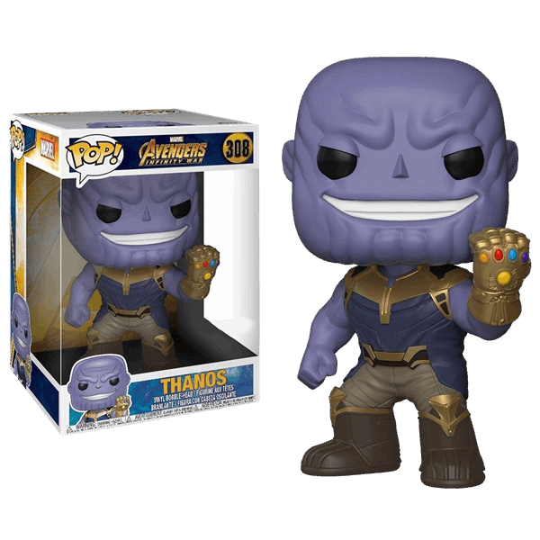 This Pop Vinyl Features The Evil Thanos In All His 10 Glory Looking Quite Pleased With Himself As He Wreaks Havoc On Earth With H Vinyl Figures Funko Marvel