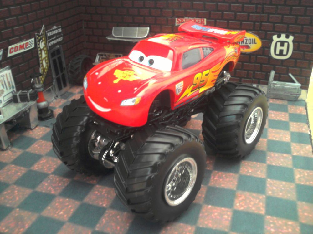 Custom Pixar Cars Lightning Mcqueen Hot Wheels Monster Jam